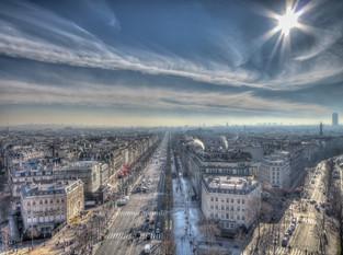 Paris from Arc d'Triomphe