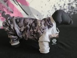 64. Canada Pooch grey camo pajamas size 18