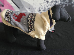 43. Bailey and Bella ivory grey pattern reindeer sweater XS, M