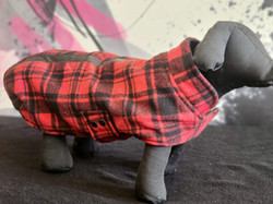 7. Bailey and Bella red black plaid S, M, L