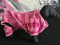 65. Bailey and Bella pink patterned fleece pajamas XL