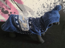 69. Bailey and Bella blue grey patterned with hood XL