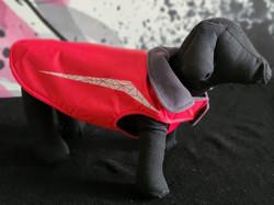 52. RC Pets red grey fleece 12, 14, 16