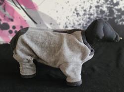 61. Bailey and Bella dark grey light grey fleece L
