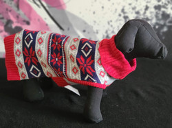 49. Bailey and Bella red black white pattern sweater XS, M, L