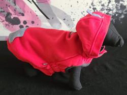 47. GF Pet red fleece hoodie L, XL