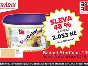 MIMOŘÁDNÁ AKCE - fasádní barva BAUMIT StarColor