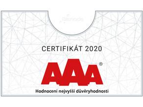 TRADIX získal certifikát AAA