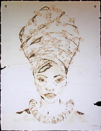 GEVARIA_97_124 artwork size_chalk,burned&sewn paper_slim white frame_april 21_2950euro MED