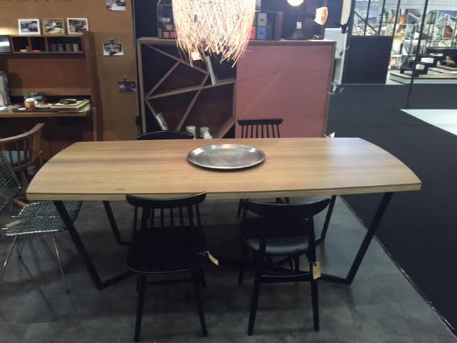Table Y plateau chêne
