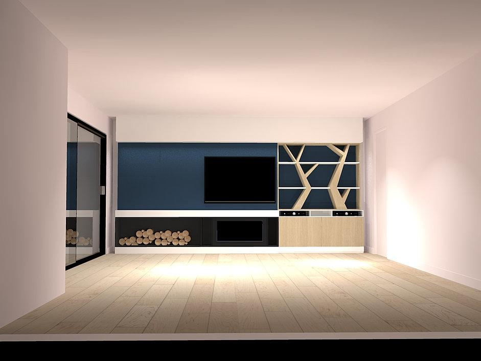 démesure / design d espaces / meubles sur mesure / nantes vertou - Meuble Tv Sur Mesure Design