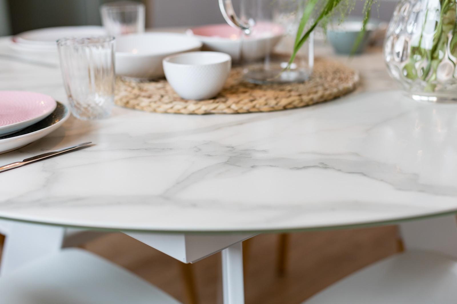 Table céramique marbre sur mesure