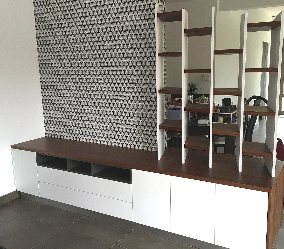 démesure / design d espaces / meubles sur mesure / nantes vertou ... - Meuble Tv Bibliotheque Design