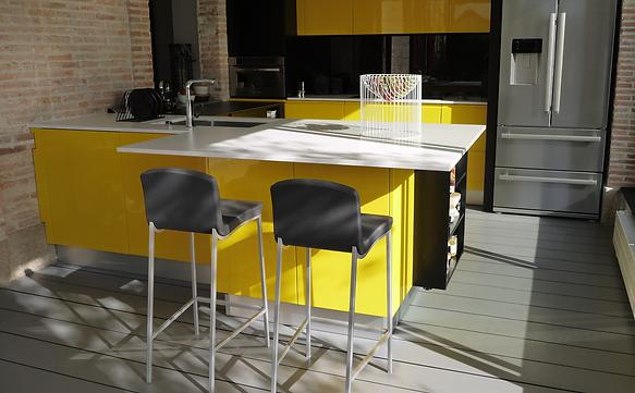 Cuisine Noir Et Jaune Cheap Indogate Idee Peinture Chambre Garcon - Cuisine noir et jaune