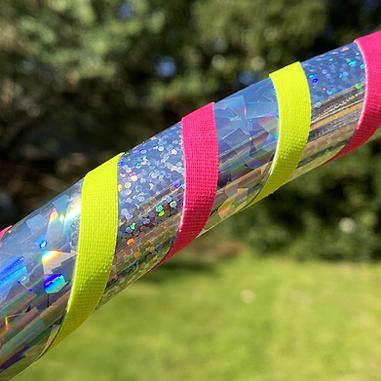 glitter silver hula hoop taping ideas holo