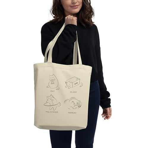 Eat Sleep Hula Hoop Repeat (With Cats!) - Eco Tote Bag (POD)