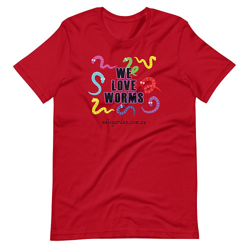"""We Love Worms"" Short-Sleeve Unisex T-Shirt"