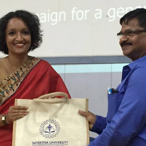 At Saveetha University