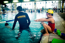 Learning to dive at Brewer Swimming