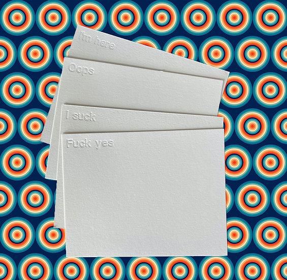 You Do You Custom Notecard Pack