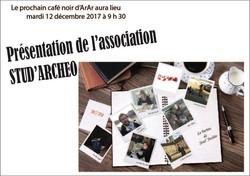 Studarchéo au café noir d'Arar