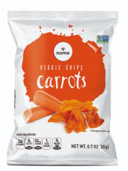 Carrot Chips 0.7oz (Pack of 12) Vegan, Gluten Free, NON-GMO