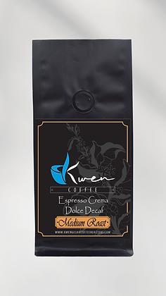 Espresso Crema Dolce Decaf Medium Roast 12oz.