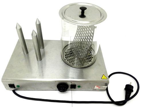 Hot-dog elektrický se 4 trny + nádoba s košíkem