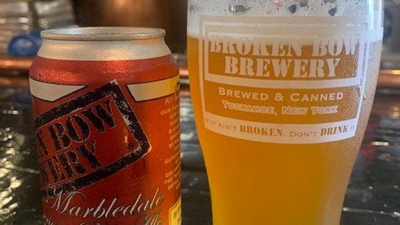 "Broken Bow Brewery New York ""Marbledale American Pale Ale  6.0%"""