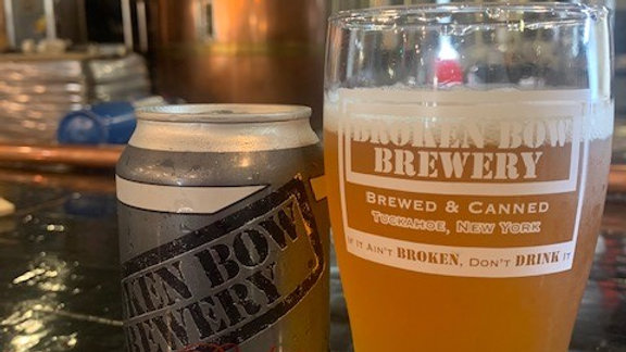 "Broken Bow Brewery New York ""Broken Auger Lager  5.0%"""