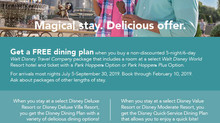 WDW Free Dining Offer is here!