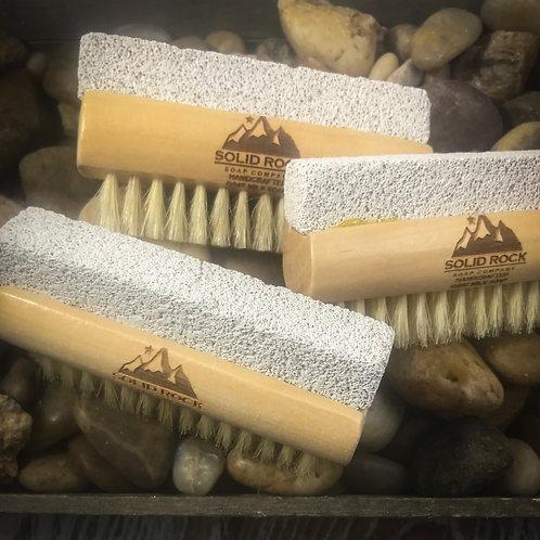Natural Boar Bristle and Pumice Nail Brush