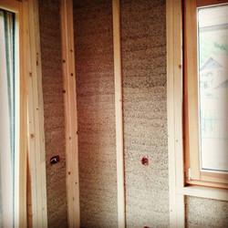 Timber Frame to allow fixing hemp board.
