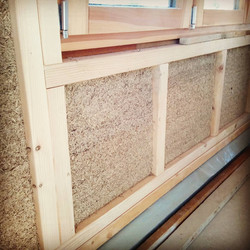 Finished Hempcrete to allow fixing