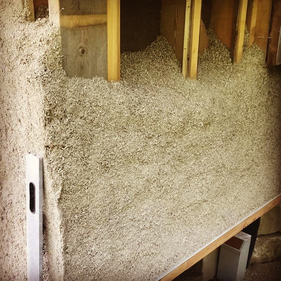 Sprayed Hempcrete