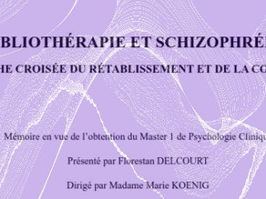 """""""Bibliothérapie et schizophrénie : approche croisée du rétablissement et de la conscience"""""""
