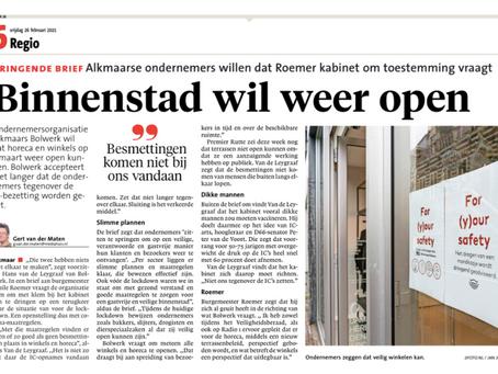 Bolwerk accepteert niet langer dat de ondernemers tegenover de IC-bezetting worden gezet