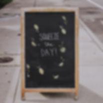 Cafe business chalkboard