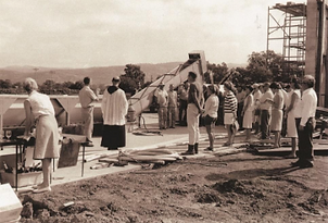 Blessing the grapes 1966 at the unfinish