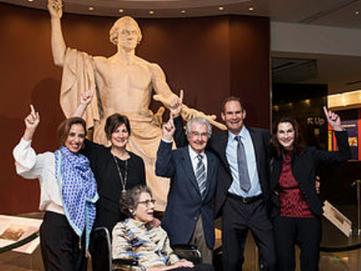 Winiarski Family at the Smithsonian NMAH, Washington Memorial