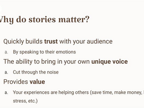 Why do stories matter?