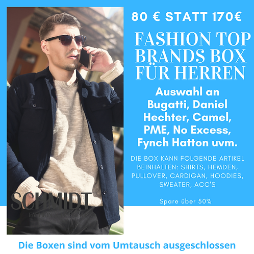 FashionTop Brands Box für Herren: Bugatti, Daniel Hechter, Camel, Fynch Hatton