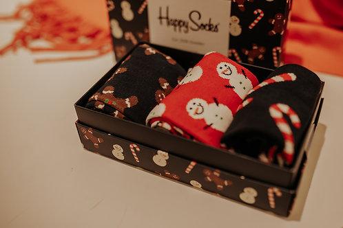 Happy Socks Holiday Gift Box 3er Set