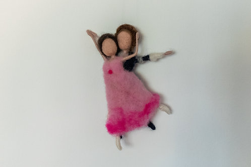Tanzpaar Ballett  in rosa und grau