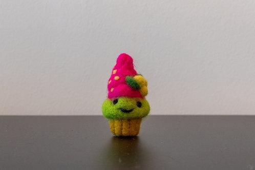 """Muffin mit """"pinker Creme und Zitronen"""""""