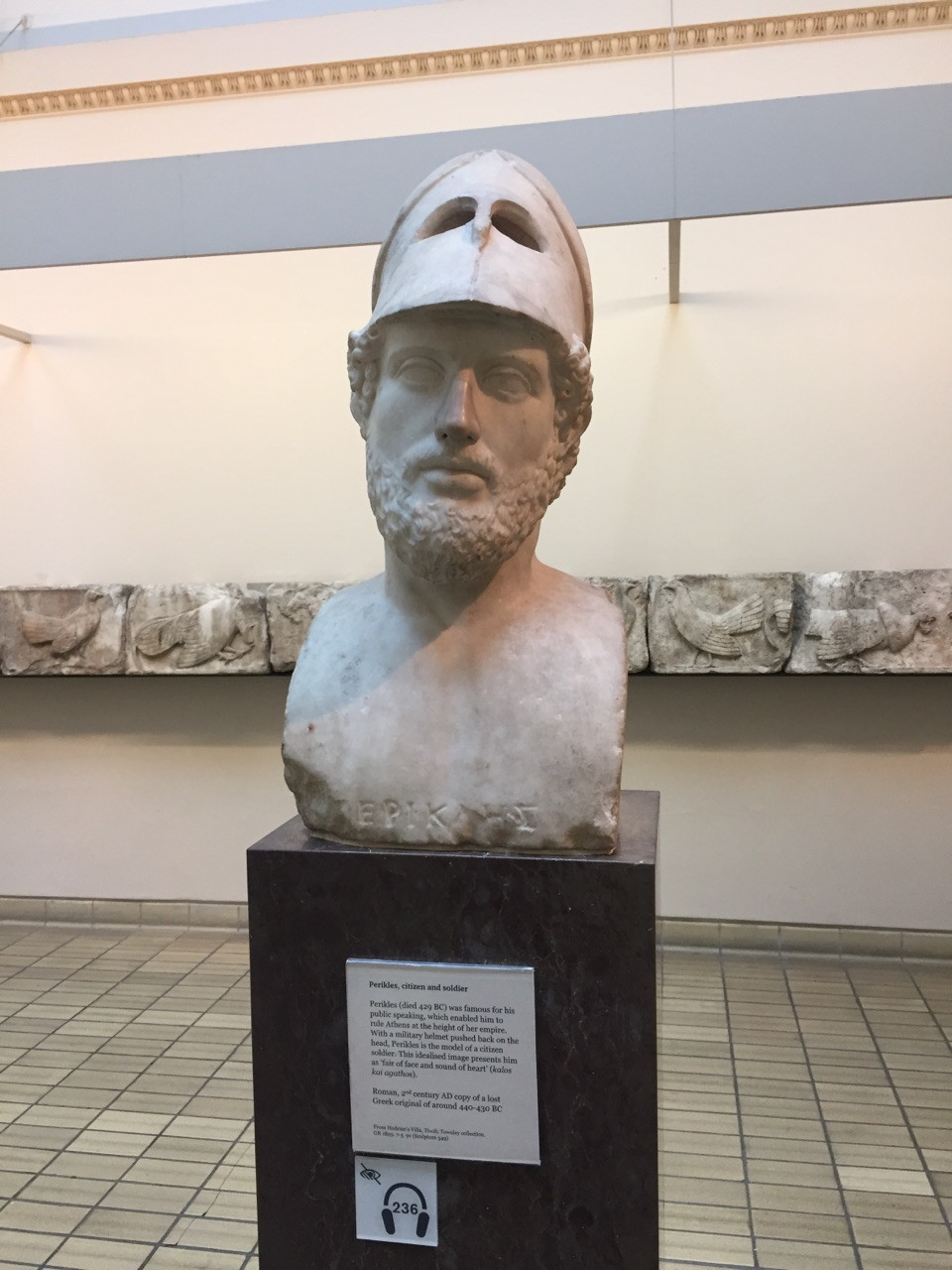 sculpture of Pericles