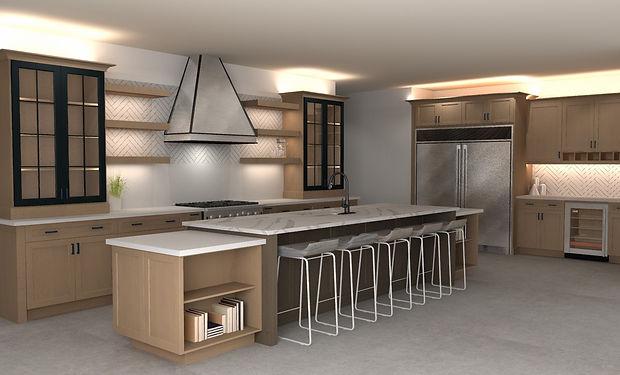 3D Rendering, Floor Plan, Heritage Kitch
