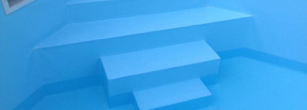 escalier piscine sur mesure