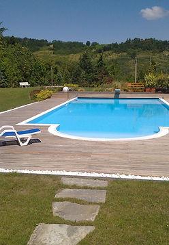 piscine escalier roman