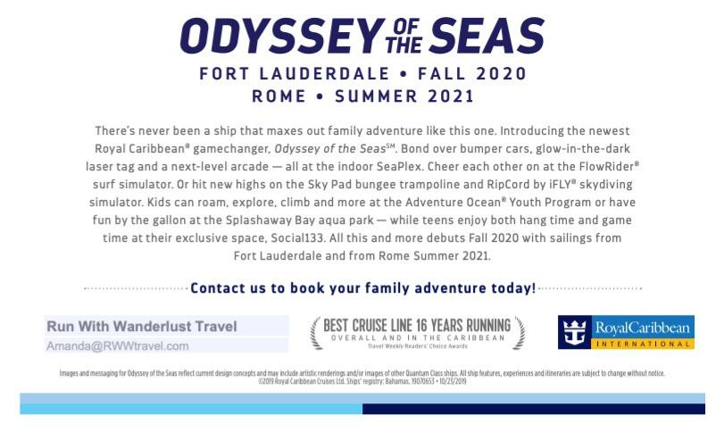 Odyssey of the Seas 2020